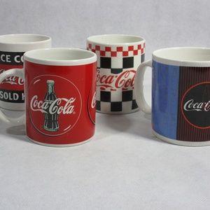 Lot Of 4 VIntage Coca Cola Coffee Mugs 1995/96